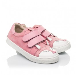 Детские кеды Woopy Fashion розовые для девочек натуральный нубук размер 18-33 (5057) Фото 1