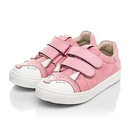 Детские кеды Woopy Fashion розовые для девочек натуральный нубук размер 18-33 (5057) Фото 2