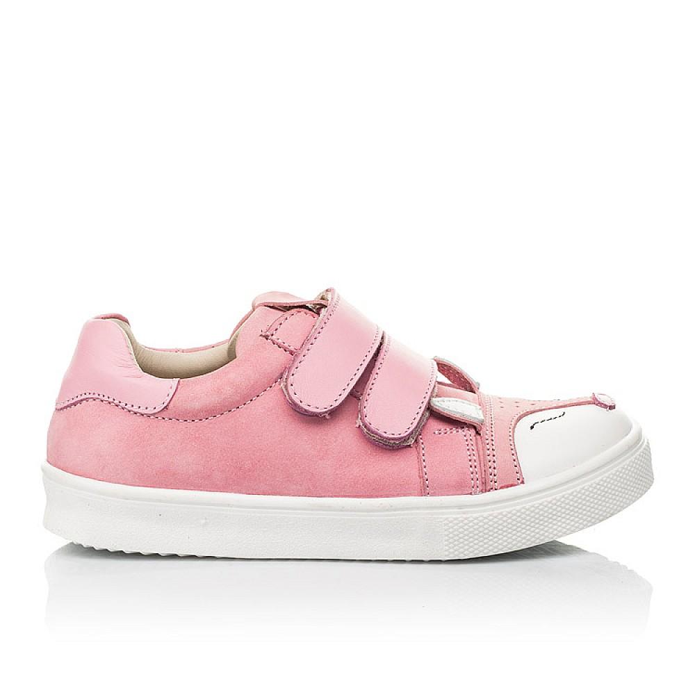 Детские кеды Woopy Fashion розовые для девочек натуральный нубук размер 18-33 (5057) Фото 3