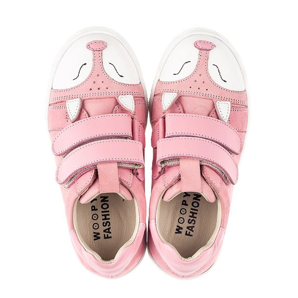 Детские кеды Woopy Fashion розовые для девочек натуральный нубук размер 18-33 (5057) Фото 4