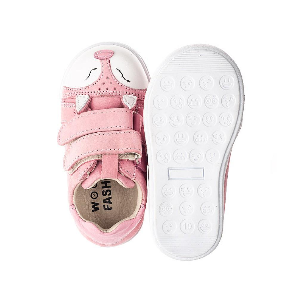 Детские кеды Woopy Fashion розовые для девочек натуральный нубук размер 18-33 (5057) Фото 6