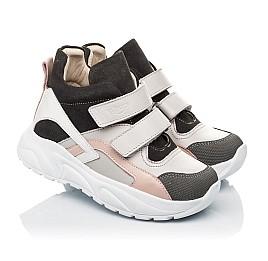 Детские демисезонные ботинки (подкладка кожа) Woopy Fashion серые для девочек натуральная кожа, нубук и замша размер 26-39 (5058) Фото 1