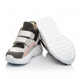 Детские демісезонні черевики (підкладка шкіра) Woopy Fashion серые для девочек натуральная кожа, нубук и замша размер 26-39 (5058) Фото 2