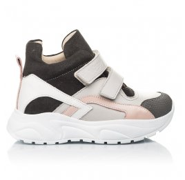 Детские демісезонні черевики (підкладка шкіра) Woopy Fashion серые для девочек натуральная кожа, нубук и замша размер 26-39 (5058) Фото 3