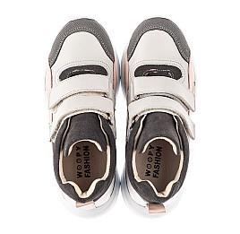 Детские демисезонные ботинки (подкладка кожа) Woopy Fashion серые для девочек натуральная кожа, нубук и замша размер 26-39 (5058) Фото 4