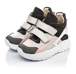 Детские демисезонные ботинки (подкладка кожа) Woopy Fashion серые для девочек натуральная кожа, нубук и замша размер 26-39 (5058) Фото 5