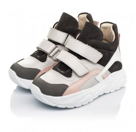 Детские демісезонні черевики (підкладка шкіра) Woopy Fashion серые для девочек натуральная кожа, нубук и замша размер 26-39 (5058) Фото 5