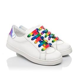 Детские кеды Woopy Fashion белые для девочек натуральная кожа размер 28-38 (5059) Фото 1