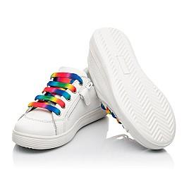 Детские кеды Woopy Fashion белые для девочек натуральная кожа размер 28-38 (5059) Фото 2