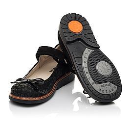 Детские туфли Woopy Orthopedic черные для девочек натуральный нубук и замша размер 29-35 (5060) Фото 2