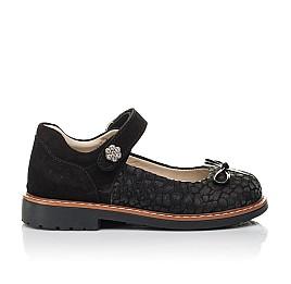 Детские туфли Woopy Orthopedic черные для девочек натуральный нубук и замша размер 29-35 (5060) Фото 4