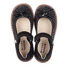 Детские туфли Woopy Orthopedic черные для девочек натуральный нубук и замша размер 29-35 (5060) Фото 5
