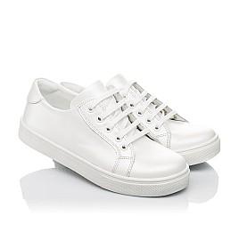 Детские кеды Woopy Fashion белые для девочек натуральная кожа размер 30-40 (5061) Фото 1