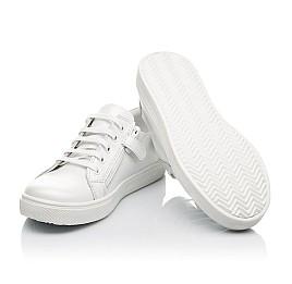 Детские кеды Woopy Fashion белые для девочек натуральная кожа размер 30-40 (5061) Фото 2