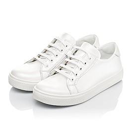 Детские кеды Woopy Fashion белые для девочек натуральная кожа размер 30-40 (5061) Фото 3