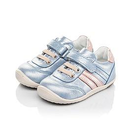 Детские кроссовки Woopy Fashion голубые для девочек натуральный нубук размер 19-25 (5062) Фото 3