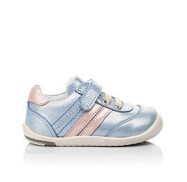 Детские кроссовки Woopy Fashion голубые для девочек натуральный нубук размер 19-25 (5062) Фото 4