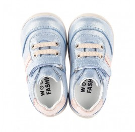 Детские кроссовки Woopy Fashion голубые для девочек натуральный нубук размер 19-25 (5062) Фото 5