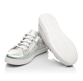 Детские кеды Woopy Fashion серебряные для девочек натуральный нубук размер 28-38 (5063) Фото 2