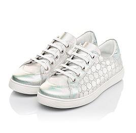 Детские кеды Woopy Fashion серебряные для девочек натуральный нубук размер 28-38 (5063) Фото 3