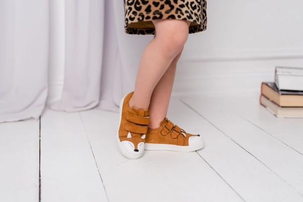 Девочка обута в детские кеды Woopy Fashion рыжие (5064) Фото 2