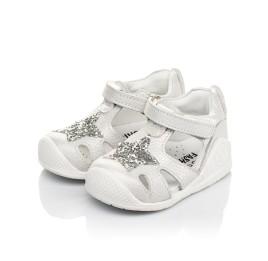 Детские закрытые босоножки Woopy Fashion серебряные для девочек натуральный нубук размер 18-21 (5065) Фото 3