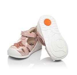 Детские закрытые босоножки Woopy Fashion розовые для девочек натуральный нубук размер 18-21 (5066) Фото 2