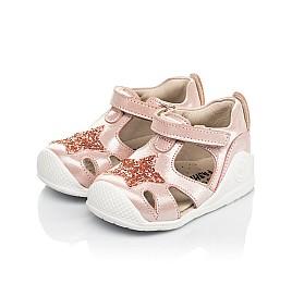 Детские закрытые босоножки Woopy Fashion розовые для девочек натуральный нубук размер 18-21 (5066) Фото 3