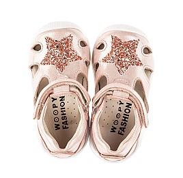 Детские закрытые босоножки Woopy Fashion розовые для девочек натуральный нубук размер 18-21 (5066) Фото 5