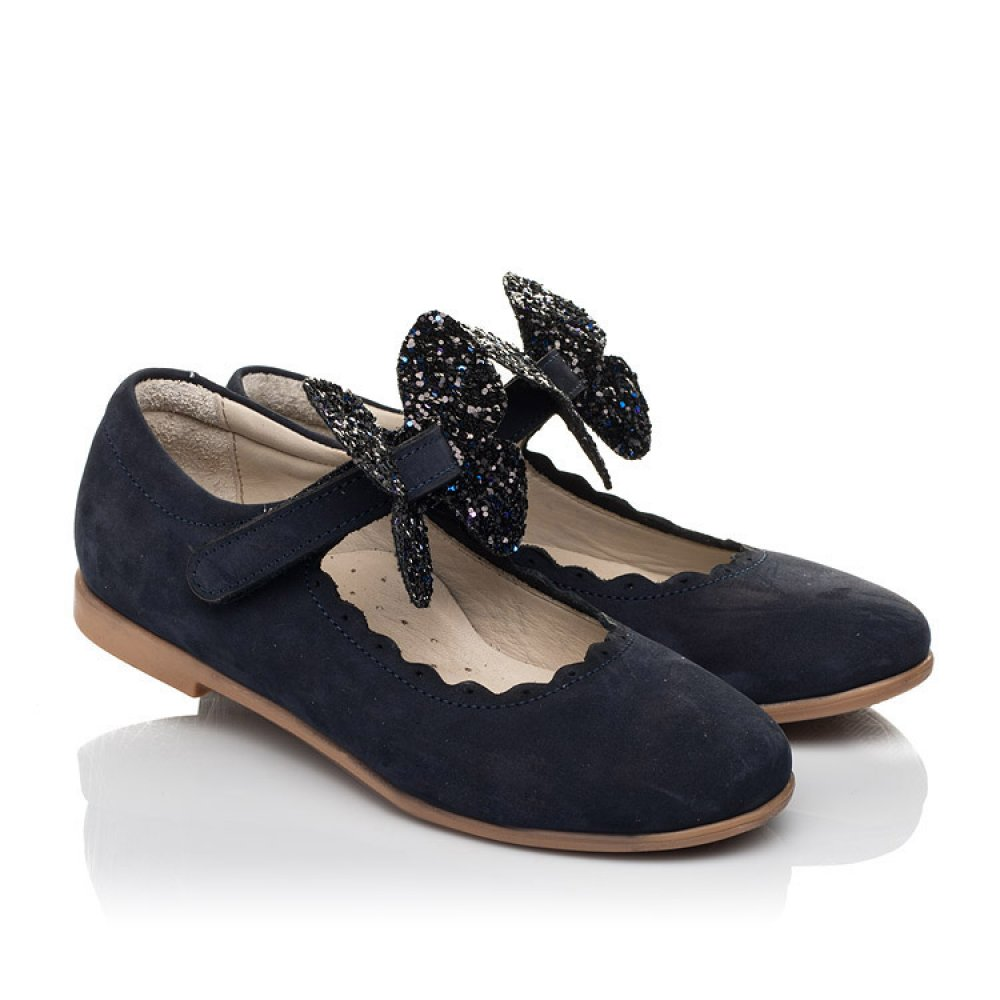 Детские туфли Woopy Fashion синие для девочек натуральный нубук размер 29-35 (5069) Фото 1