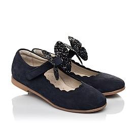 Детские туфлі Woopy Fashion синие для девочек натуральный нубук размер 29-35 (5069) Фото 1