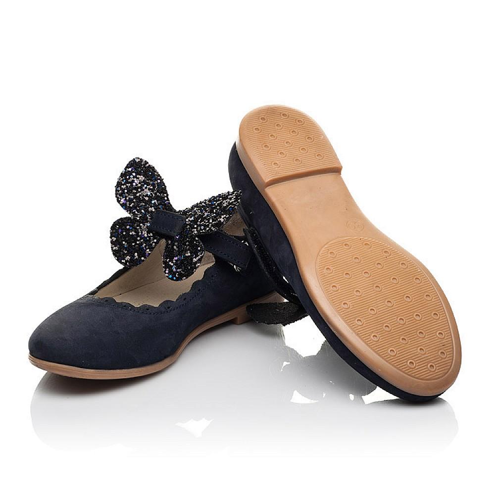 Детские туфли Woopy Fashion синие для девочек натуральный нубук размер 29-35 (5069) Фото 2