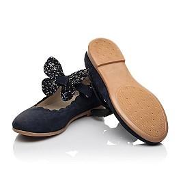 Детские туфлі Woopy Fashion синие для девочек натуральный нубук размер 29-35 (5069) Фото 2