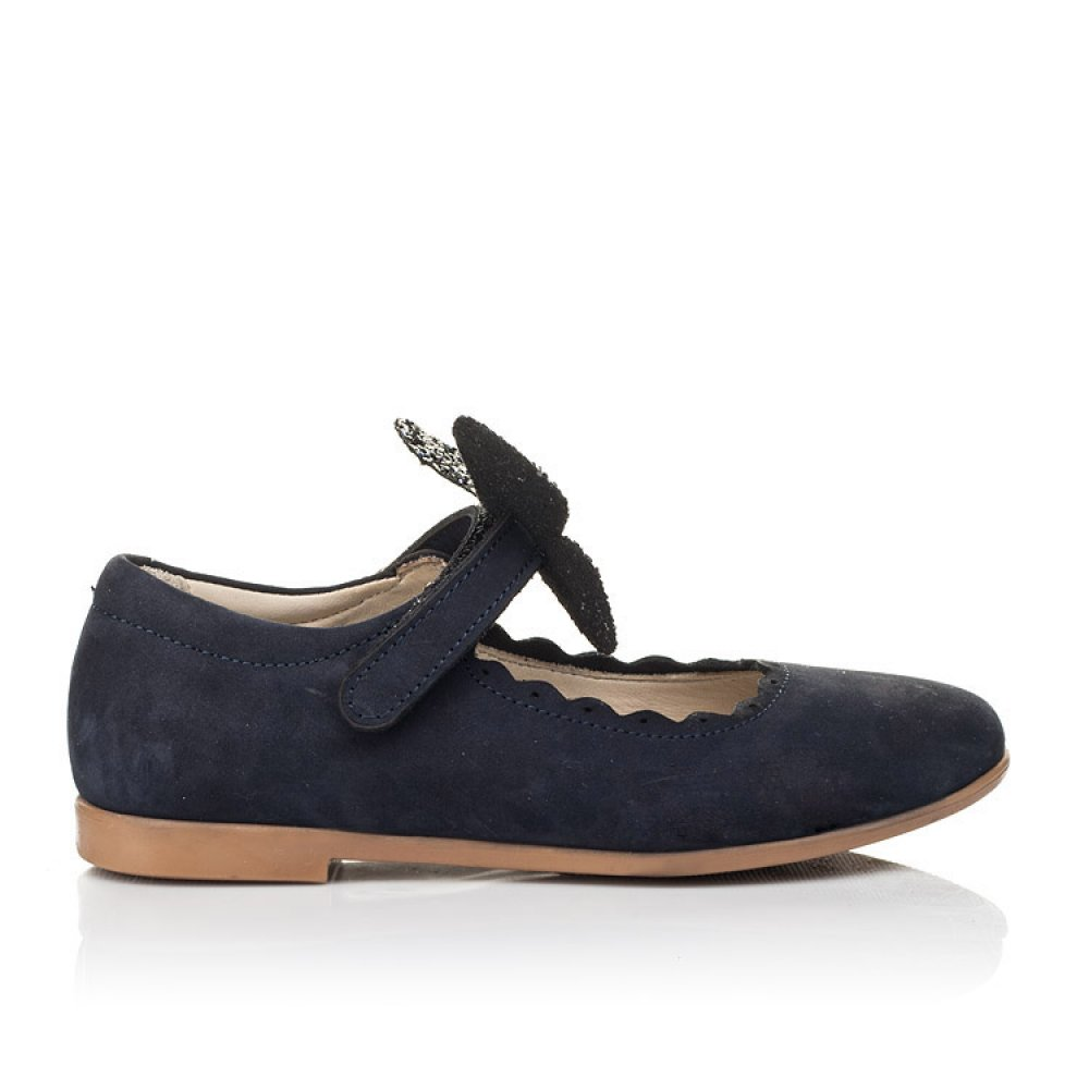 Детские туфли Woopy Fashion синие для девочек натуральный нубук размер 29-35 (5069) Фото 4
