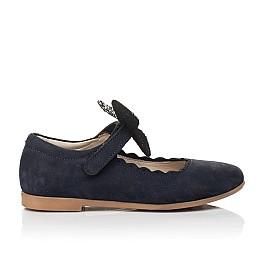 Детские туфлі Woopy Fashion синие для девочек натуральный нубук размер 29-35 (5069) Фото 4