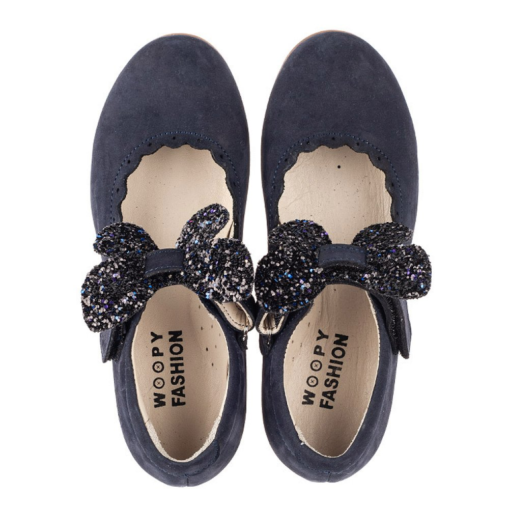 Детские туфли Woopy Fashion синие для девочек натуральный нубук размер 29-35 (5069) Фото 5