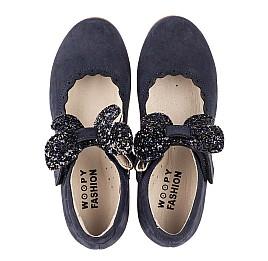 Детские туфлі Woopy Fashion синие для девочек натуральный нубук размер 29-35 (5069) Фото 5