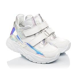 Детские демисезонные ботинки (подкладка кожа) Woopy Fashion серебряные для девочек натуральная кожа размер 27-40 (5070) Фото 1