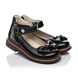Детские туфлі Woopy Orthopedic черные для девочек натуральная лаковая кожа размер 29-35 (5071) Фото 1