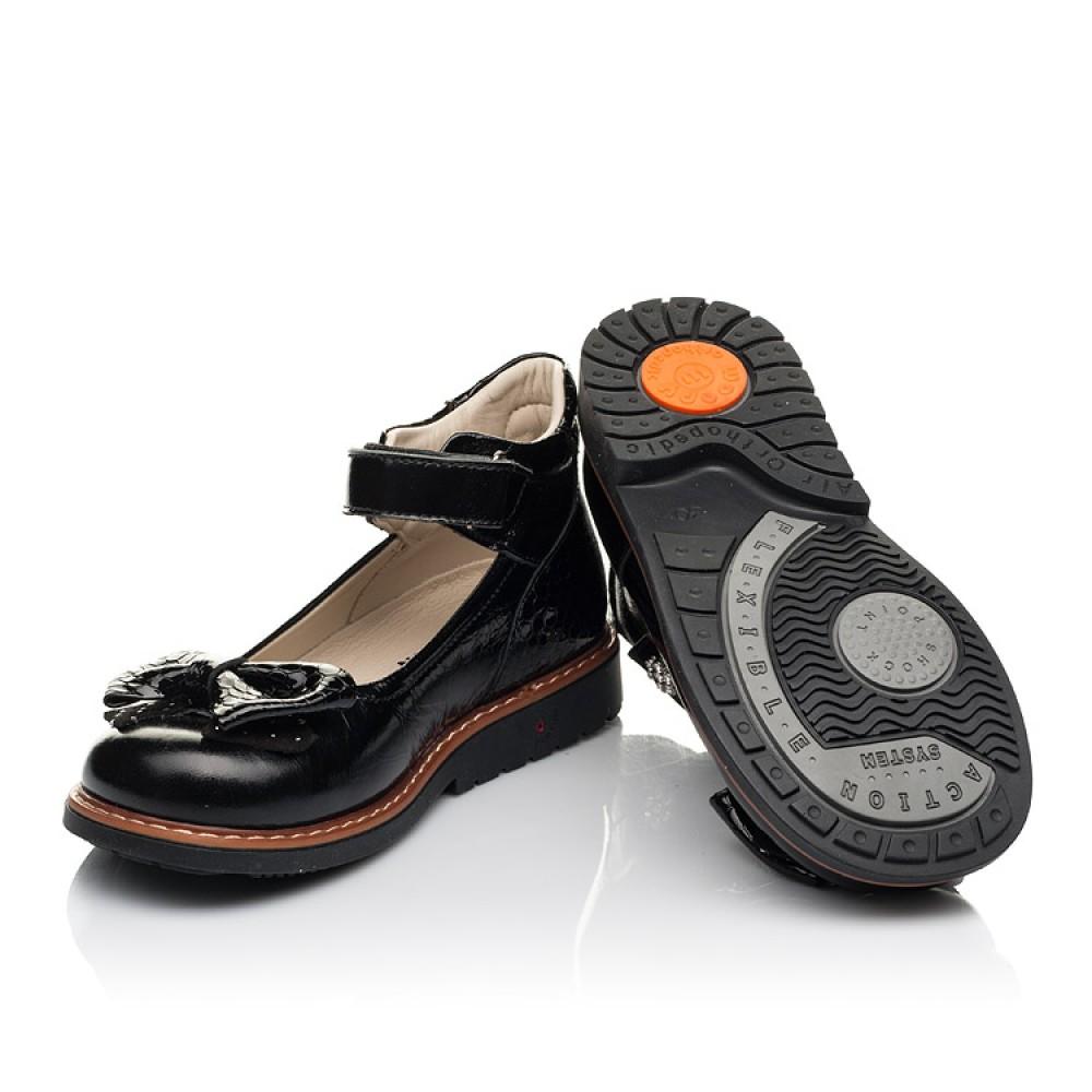 Детские туфли Woopy Orthopedic черные для девочек натуральная лаковая кожа размер 29-35 (5071) Фото 2