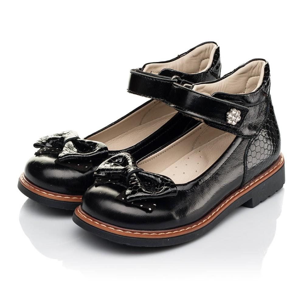 Детские туфли Woopy Orthopedic черные для девочек натуральная лаковая кожа размер 29-35 (5071) Фото 3