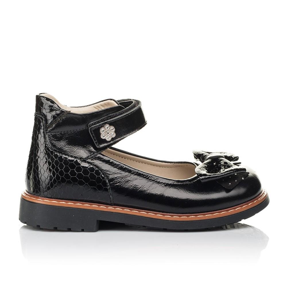 Детские туфли Woopy Orthopedic черные для девочек натуральная лаковая кожа размер 29-35 (5071) Фото 4