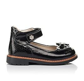 Детские туфлі Woopy Orthopedic черные для девочек натуральная лаковая кожа размер 29-35 (5071) Фото 4