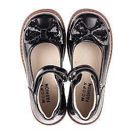 Детские туфлі Woopy Orthopedic черные для девочек натуральная лаковая кожа размер 29-35 (5071) Фото 5