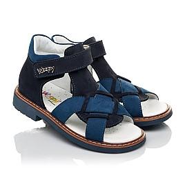 Детские босоножки Woopy Orthopedic синие для мальчиков натуральный нубук размер 23-27 (5073) Фото 1