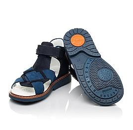 Детские босоножки Woopy Orthopedic синие для мальчиков натуральный нубук размер 23-30 (5073) Фото 2