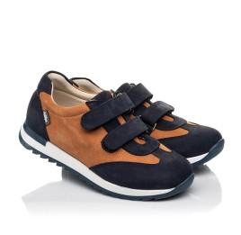 Детские кроссовки Woopy Fashion темно-синие для мальчиков натуральный нубук размер 26-40 (5076) Фото 1