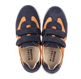 Детские кроссовки Woopy Fashion темно-синие для мальчиков натуральный нубук размер 26-40 (5076) Фото 5