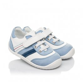 Детские кроссовки Woopy Fashion белые для мальчиков натуральная кожа размер 19-25 (5077) Фото 1