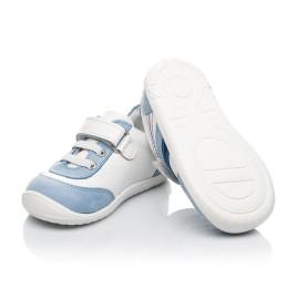 Детские кроссовки Woopy Fashion белые для мальчиков натуральная кожа размер 19-25 (5077) Фото 2